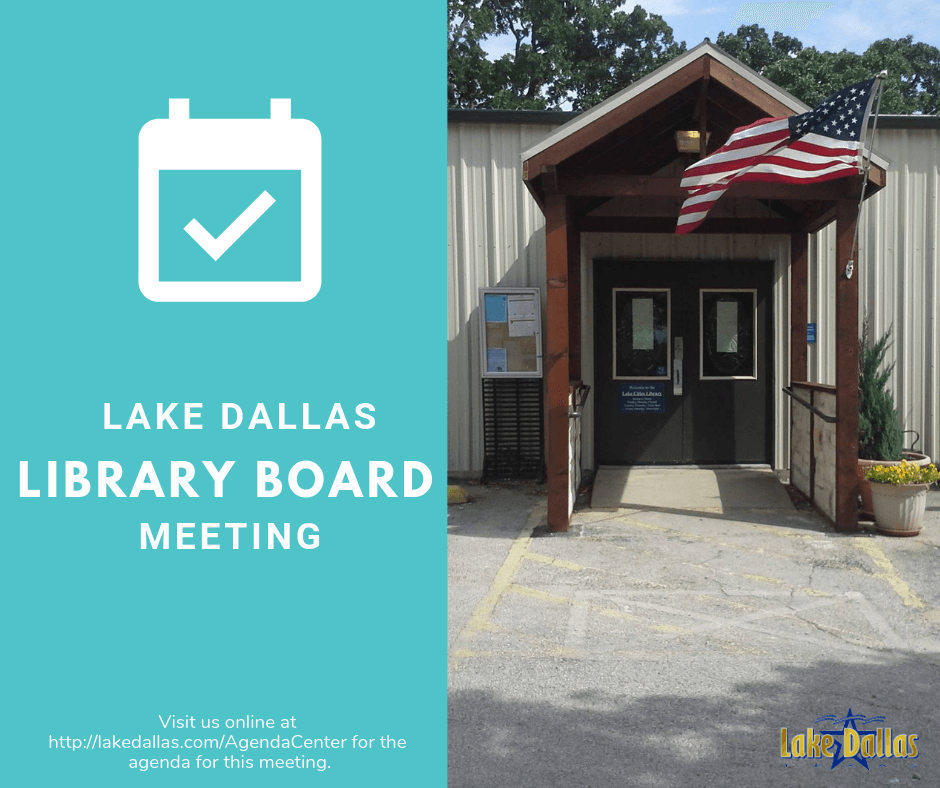 Library Board Meeting Announcement