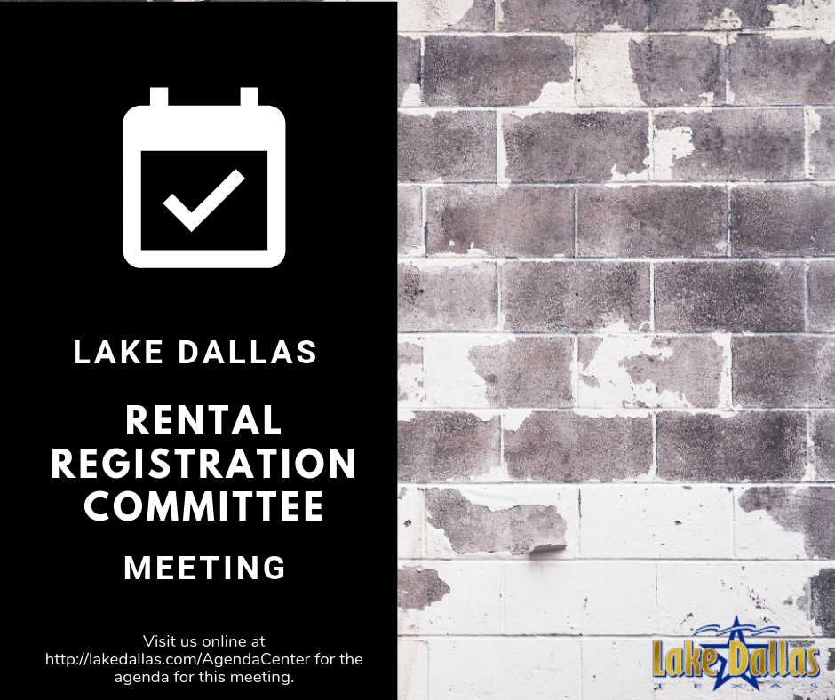 Rental Registration Committee Meeting Announcement