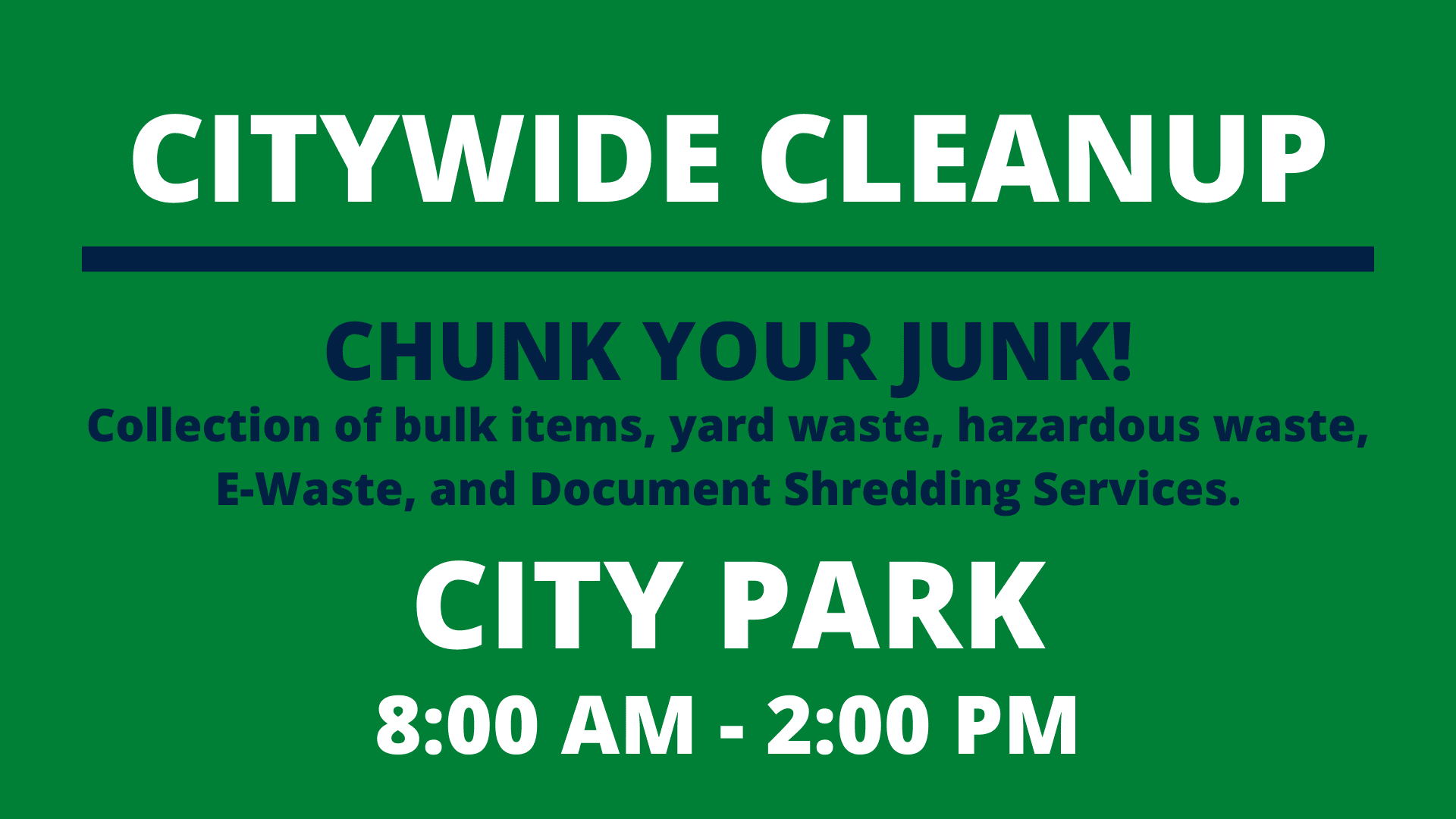 2020 Citywide Cleanup