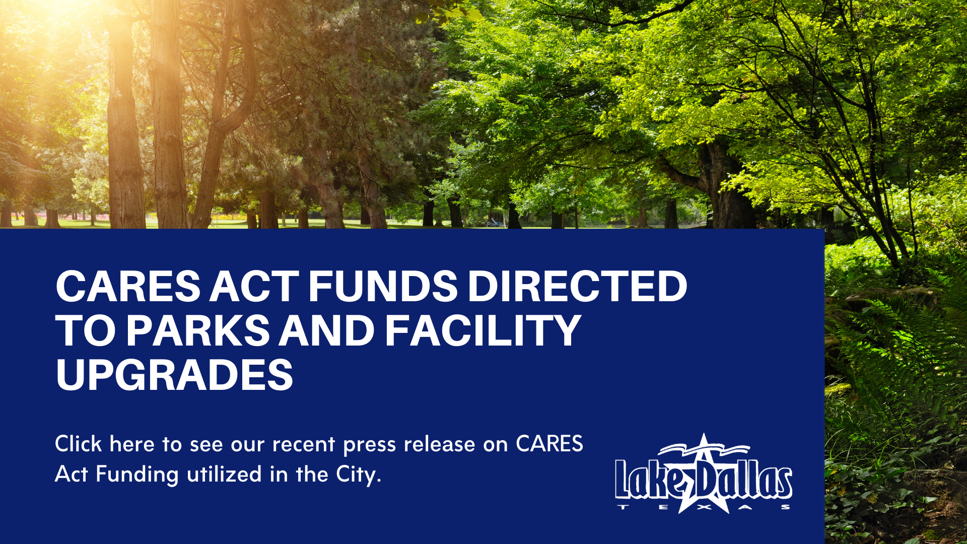 February 10, 2021 CARES Act - Parks Press Release